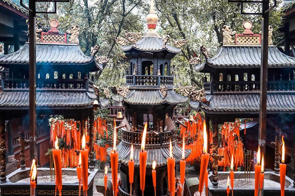 Qingcheng Mountain temple, near Chengdu