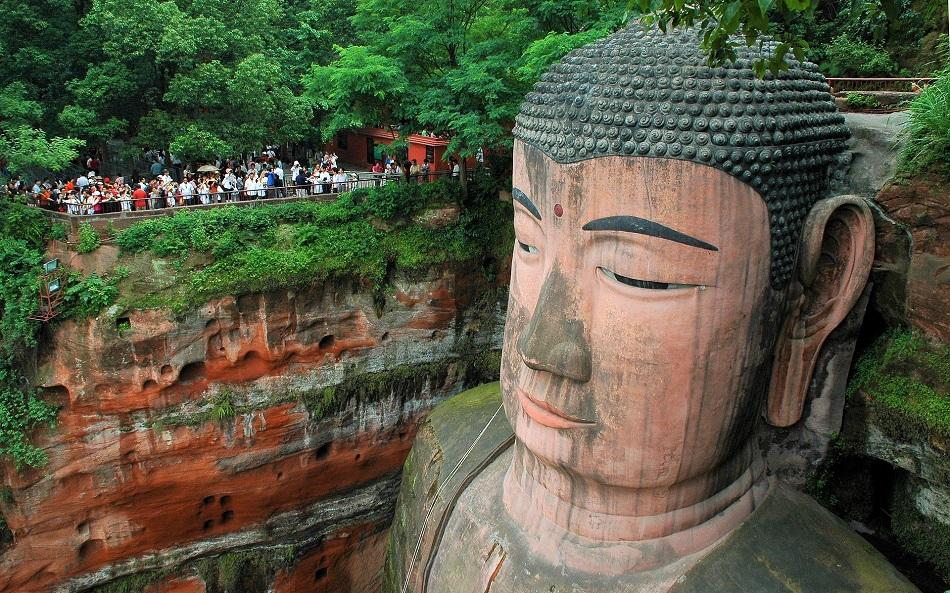Leshan Giant Buddha view from above