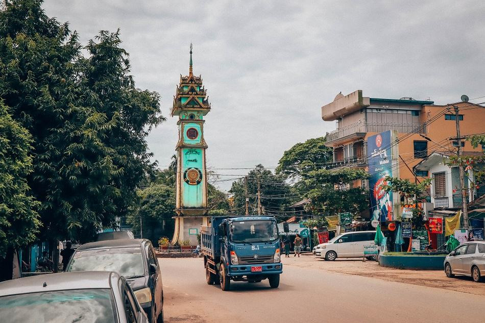 Hpa An Clock Tower city center