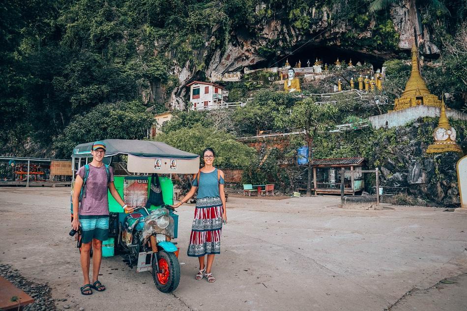 Hpa An tuk tuk tour, Myanmar