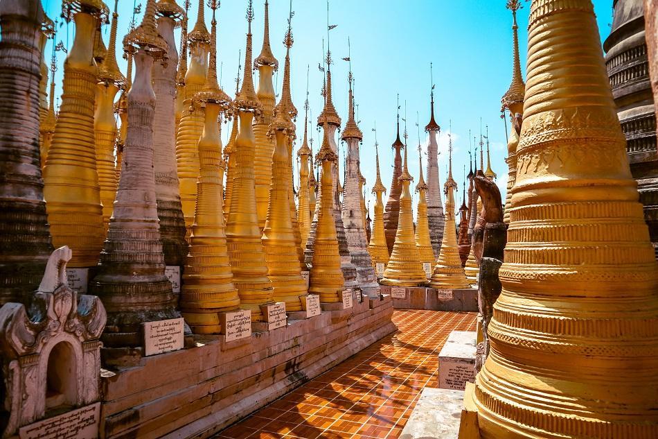 Best temples in Myanmar - Inn Dein Pagoda