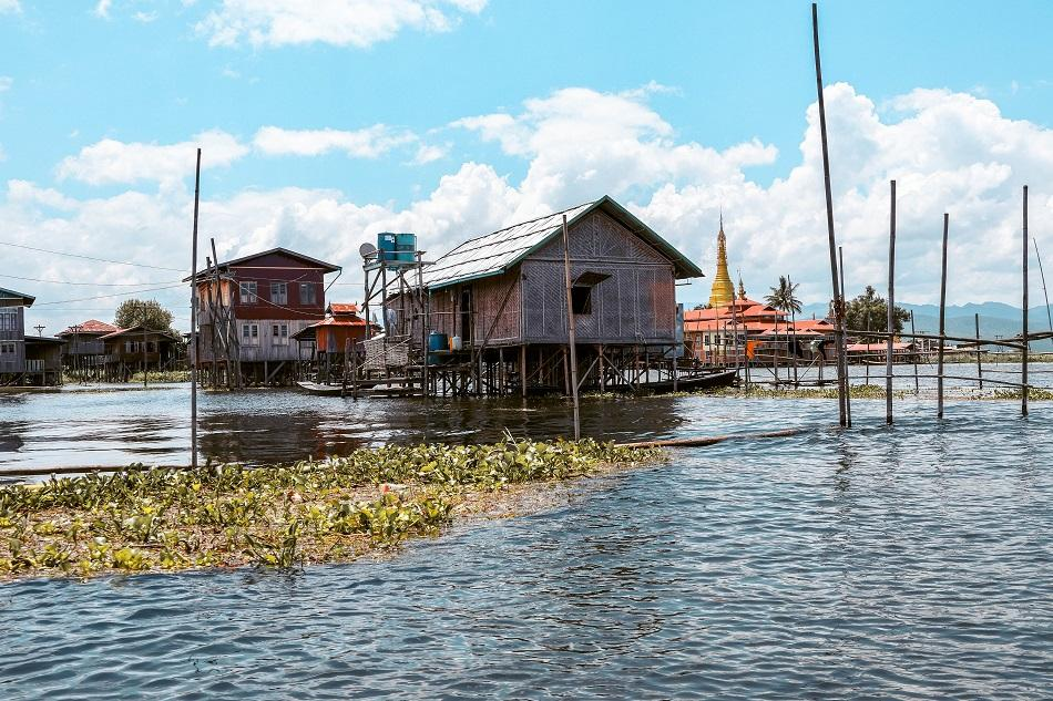 Inle Lake floating houses