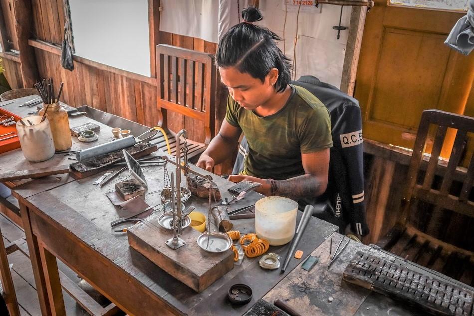 Inle Lake silversmith