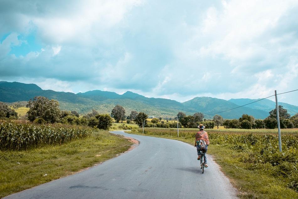 Biking at Inle Lake