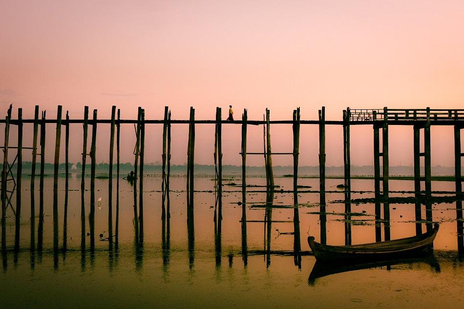 Myanmar photo gallery - U Bein Bridge, Mandalay