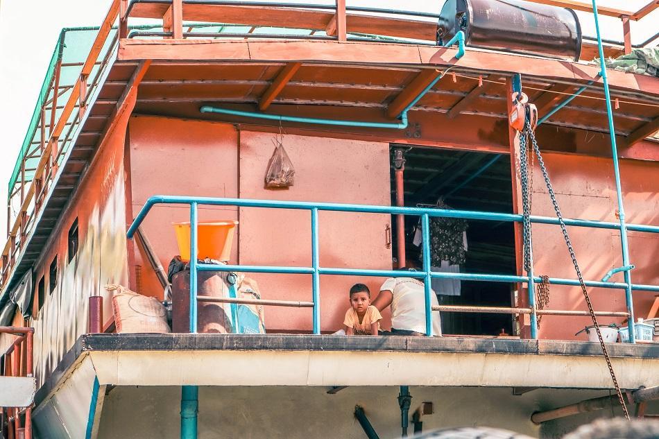 Boat ride to Mingun, Mandalay, Myanmar