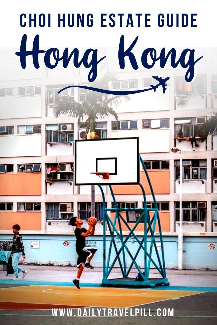 Choi Hung famous basketball court in Hong Kong