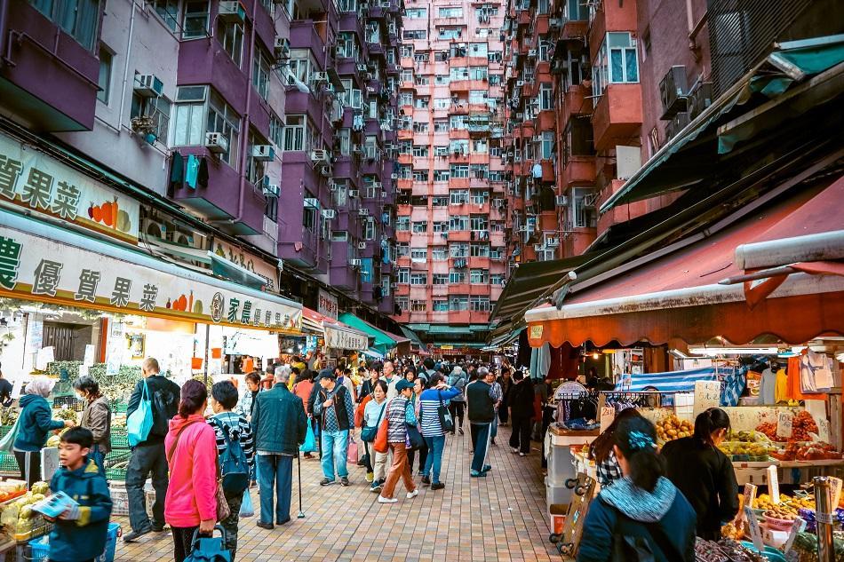 Market near Montane Mansion, Hong Kong