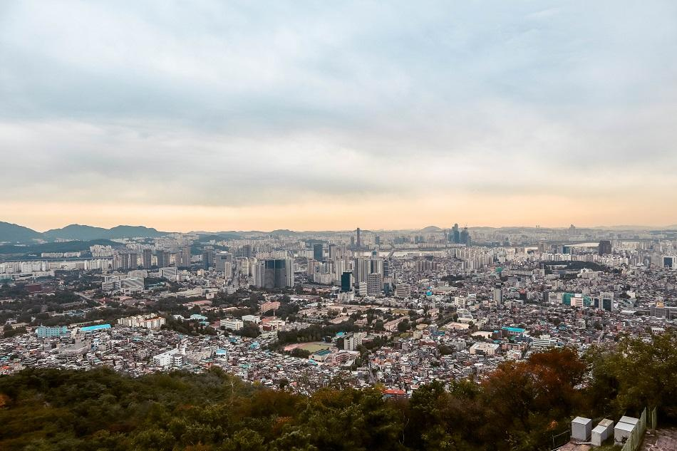 Panoramic view from N Seoul Tower
