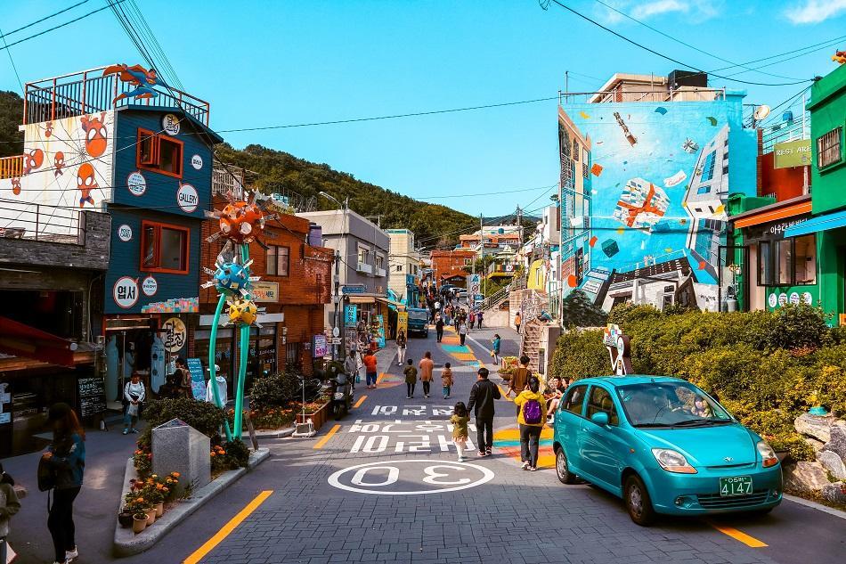 Street art at Gamcheon Culture Village, Busan