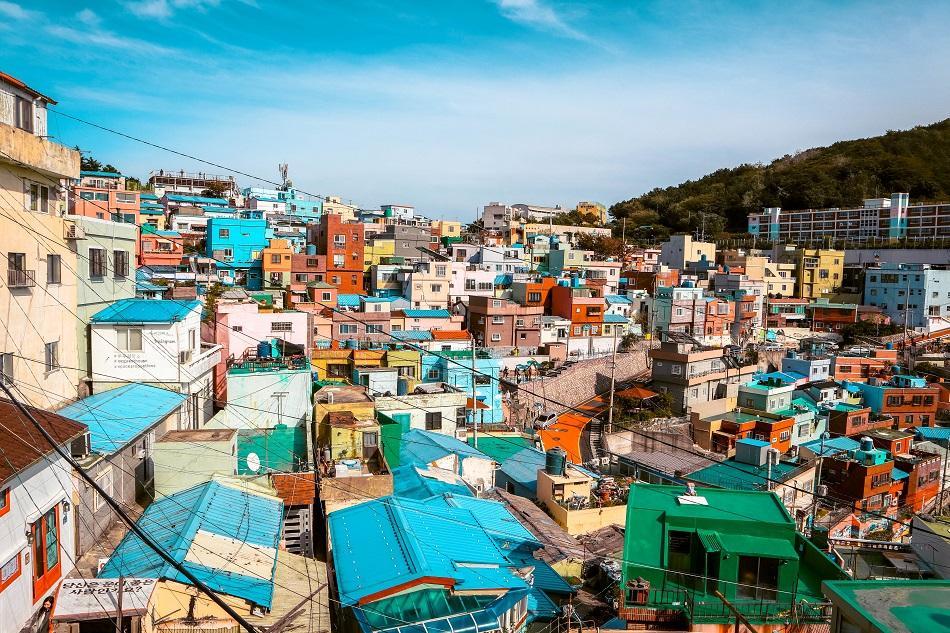 Panoramic view at Gamcheon Culture Village, Busan
