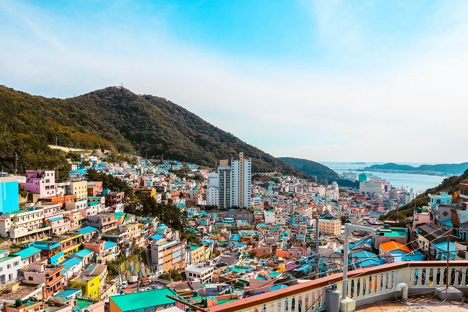 Panoramic view at Gamcheon Culture Village, Busan