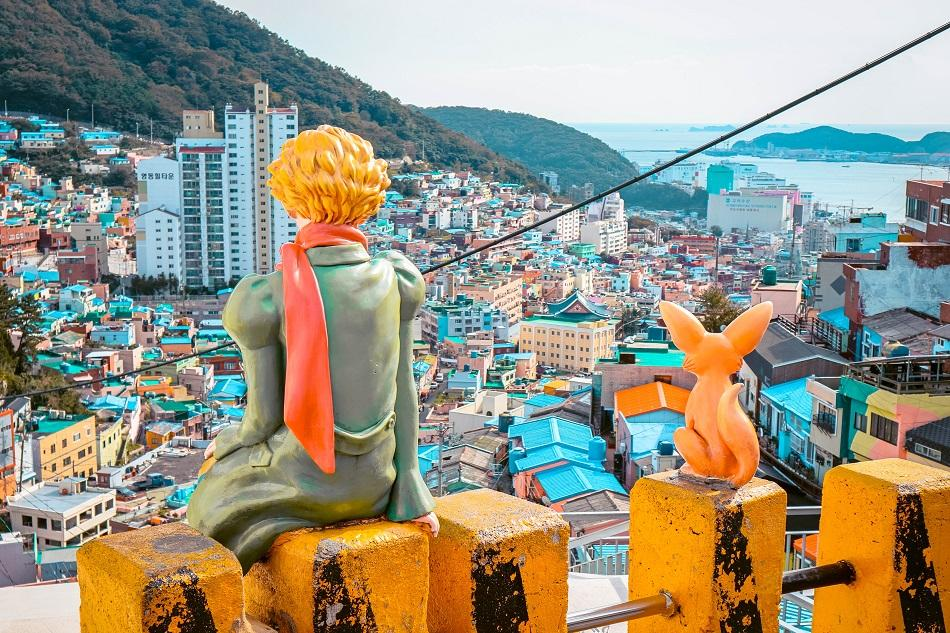 Street art at Gamcheon Culture Village, Busan