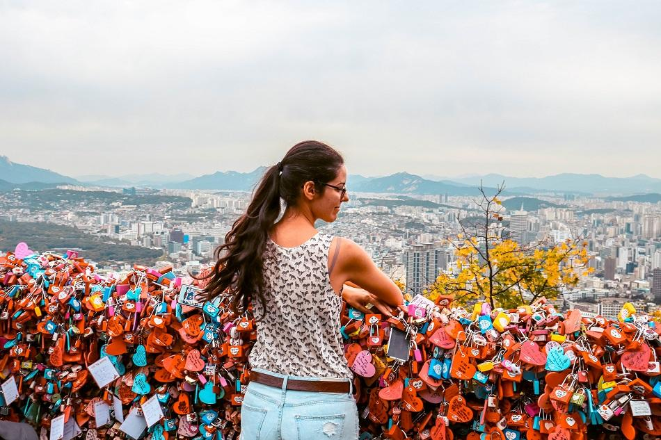 N Seoul Tower love padlocks