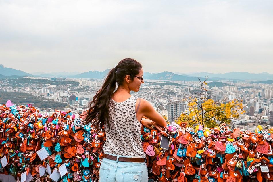 N Seoul Tower love padlocks