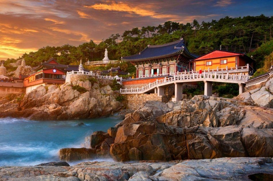 Haedong Yonggungsa Temple Busan at sunrise