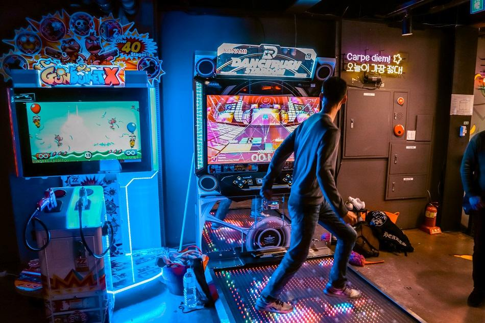 Arcade games in Hongdae, Seoul