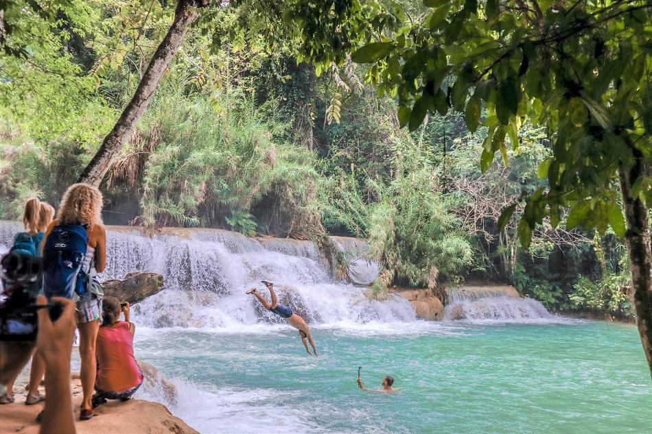 Kuang Si Falls swimming pools