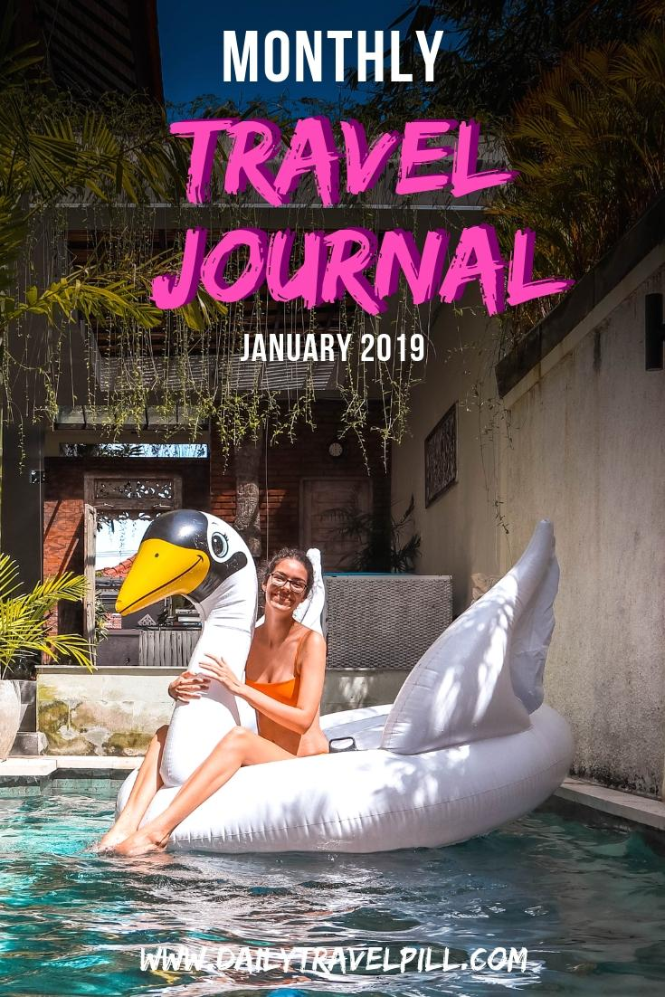 Monthly Travel Journal January 2019
