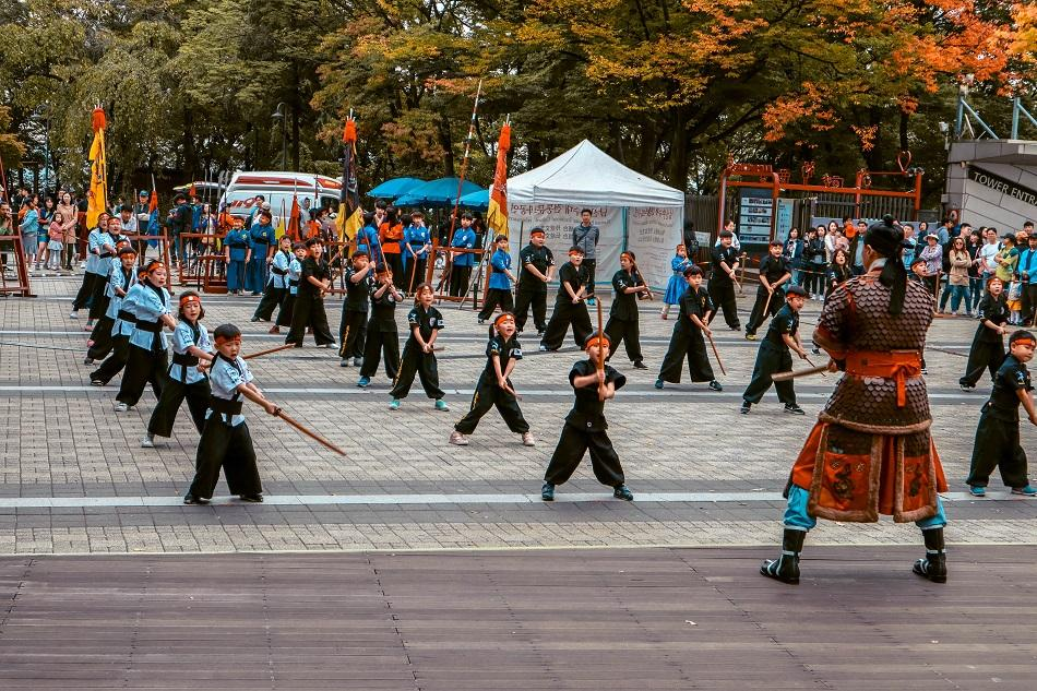 N Seoul Tower martial arts performance