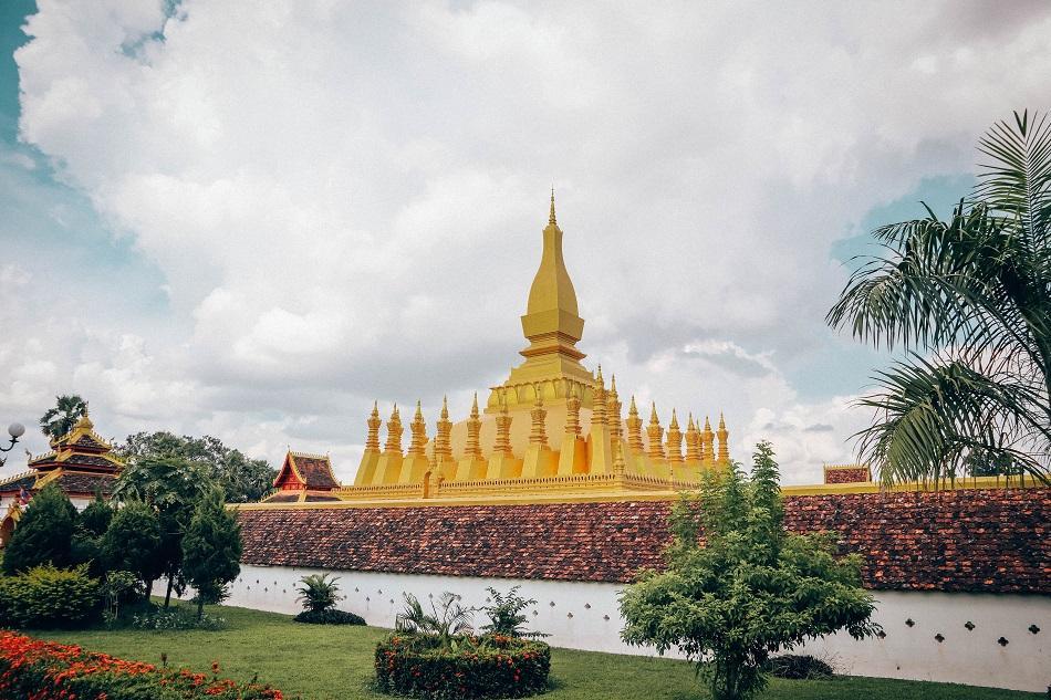 Pha That Luang Temple exterior, Vientiane