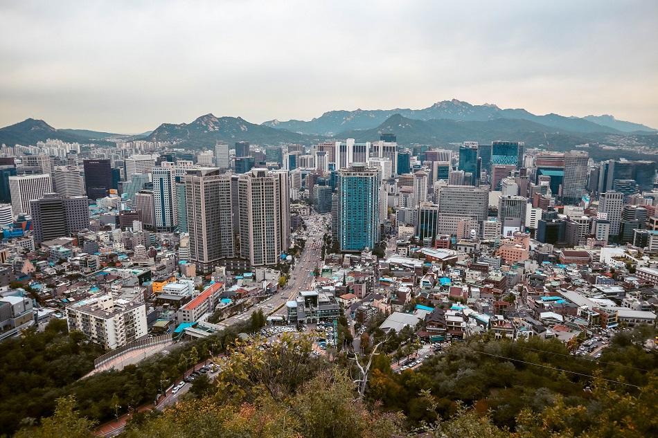 Viewing platform at N Seoul Tower
