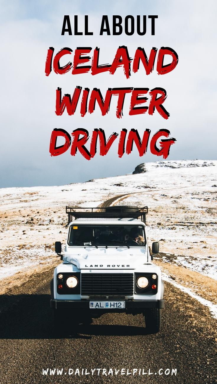 Driving in Iceland in winter tips & tricks