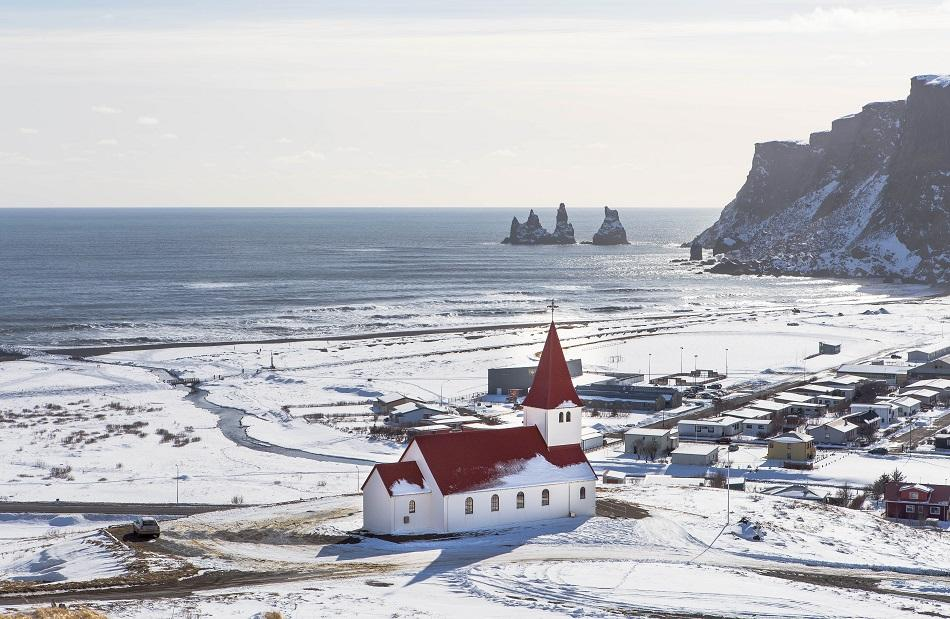 Church in Iceland in winter