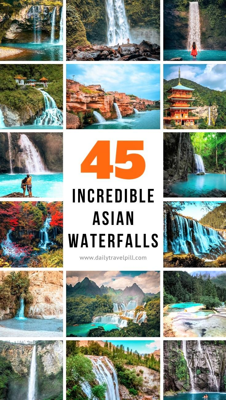 The most beautiful waterfalls in Asia