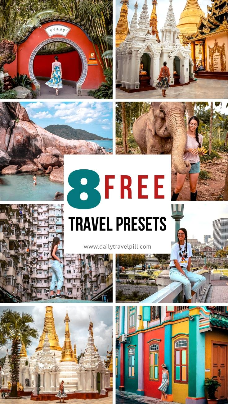 Free travel Lightroom presets for Instagram