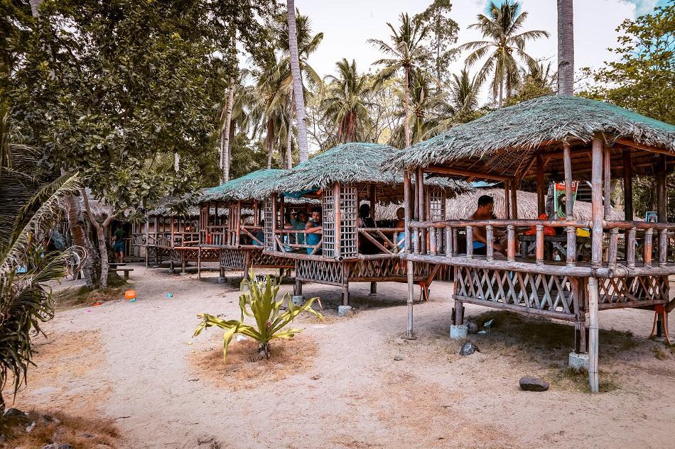 Restaurant at Nagtabon Beach in Puerto Princesa, Palawan