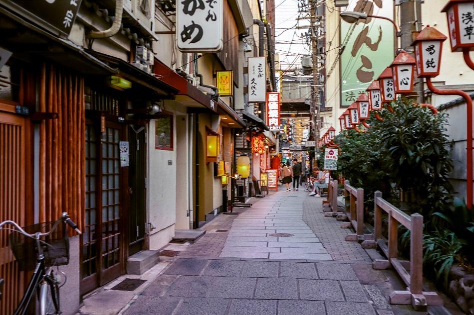 Hozenji Yokocho street in Osaka