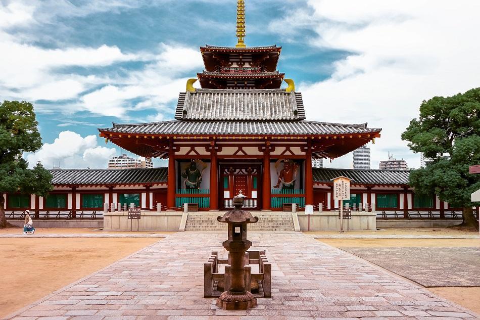 Shiitennoki Temple in Osaka