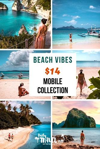 Beach Vibes preset collection for mobile