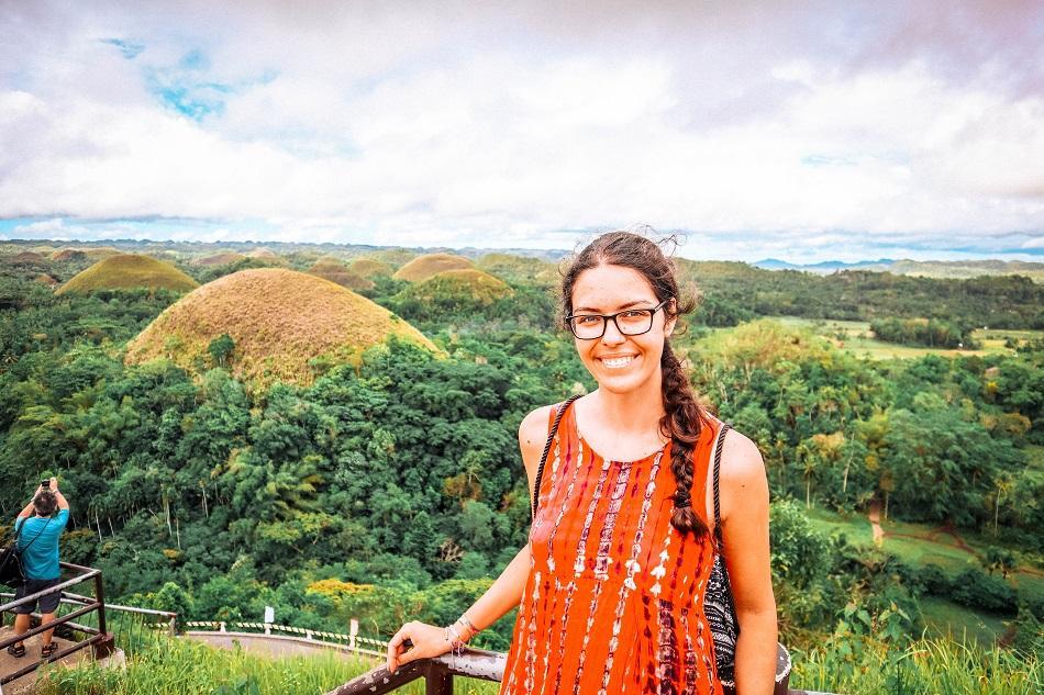 Girl at Bohol Chocolate Hills