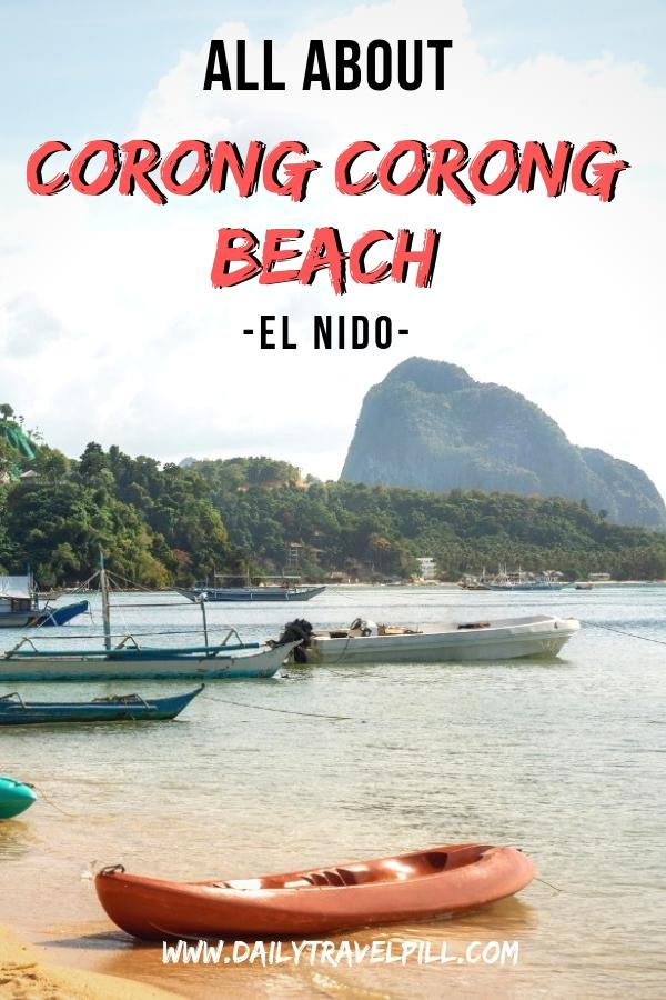 Corong Corong Beach in El Nido