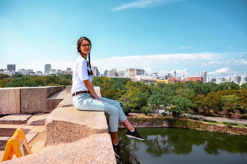 Girl at the Osaka Castle Garden