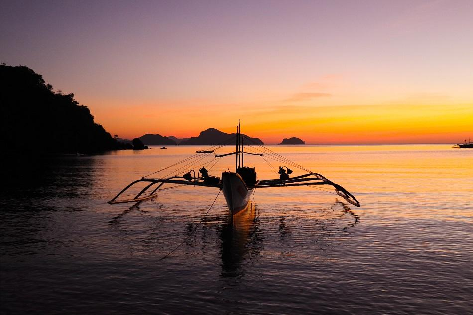 Twin Beach El Nido sunset