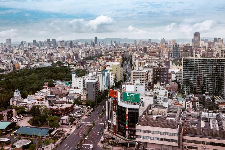 View from Abeno Harukas, Osaka