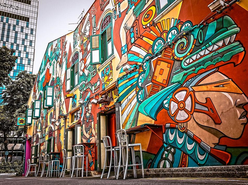 Haji Lane murals art, Singapore