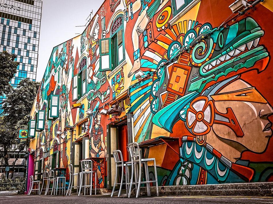 Haji Lane murals art, Singapore