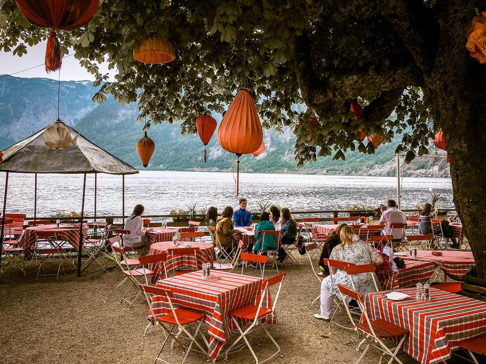 Restaurant on the lake at Hallstatt