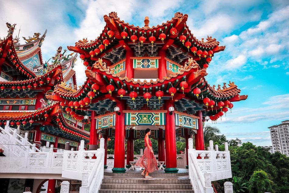 Girl at Thean Hou Temple, Luala Lumpur