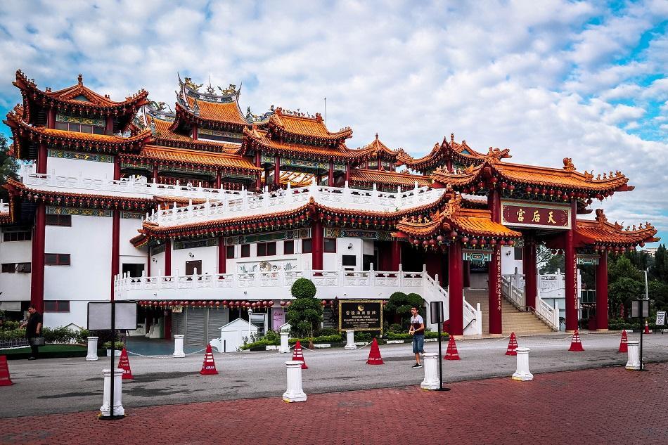Thean Hou Temple, Luala Lumpur entrance exterior