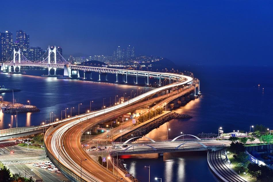 Busan Bridge at night