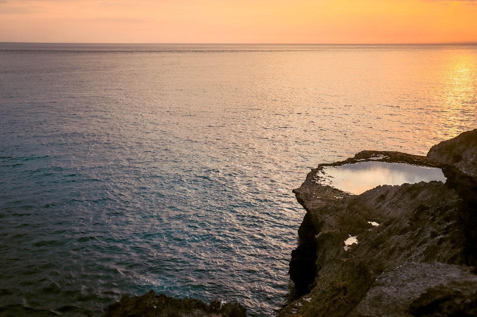 Sunset at Devils Tears - natural pools