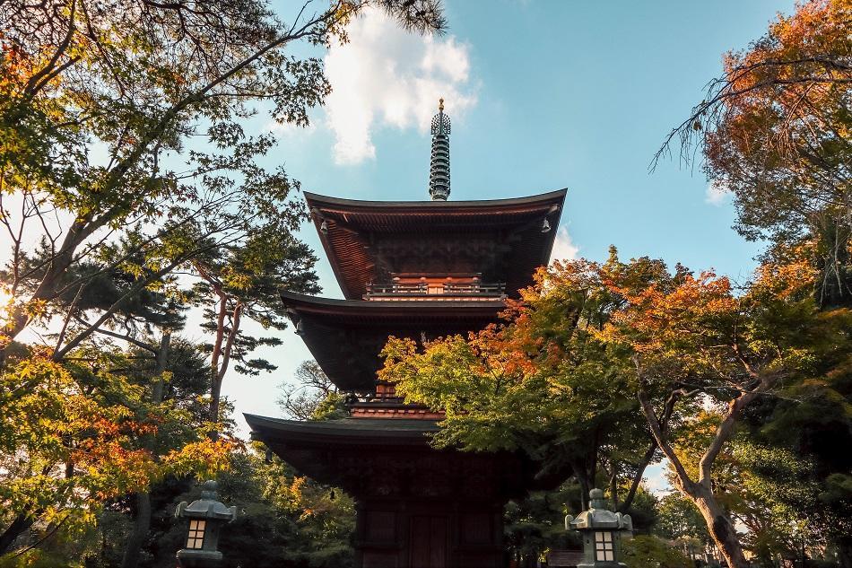 Gotokuji Temple Tokyo pagoda