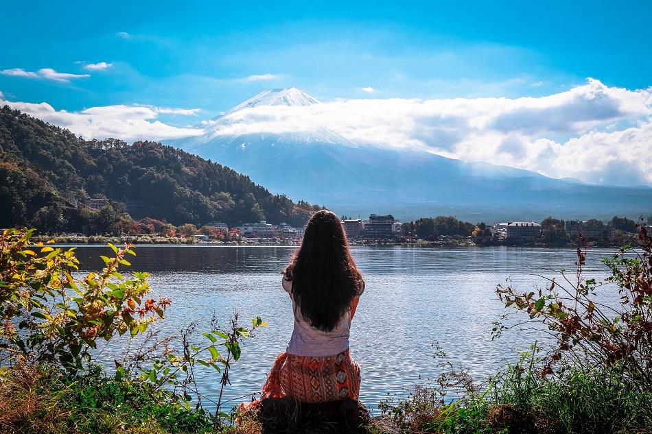 Fuji viewpoint Kawaguchiko Lake, Japan