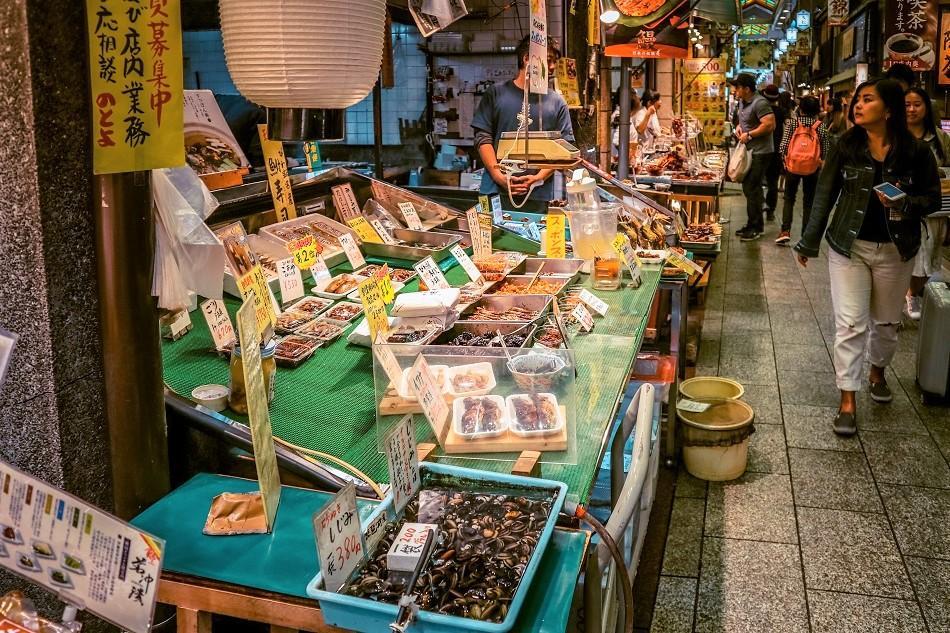 Nishiki Food Market Kyoto shops