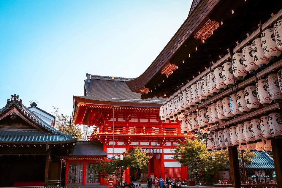 Yasaka Shrine Kyoto interior